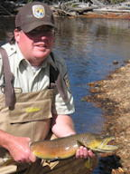 Chris Kennedy with RMNP brown trout