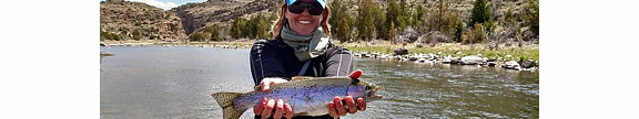 Katie Beamon shows off a rainbow
